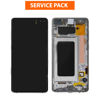 For Samsung Galaxy S10 Plus Service Pack LCD and Touch Screen Assembly With Frame (White)