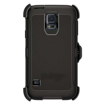 For Samsung Galaxy S5 Outer Defender Case Black