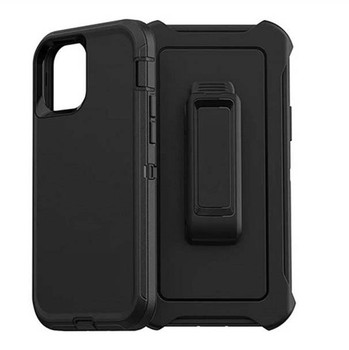 For iPhone 12 Mini Outer Defender Case Black