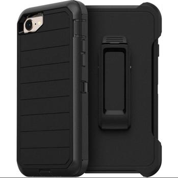 For iPhone SE 2020 Outer Defender Case Black