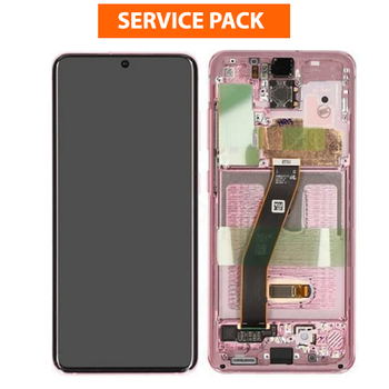 For Samsung Galaxy S20 / S20 5G Service Pack LCD and Touch Screen Assembly (Pink)
