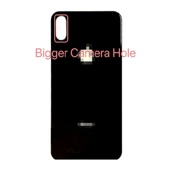 For iPhone X Back Cover Black (Big Hole)