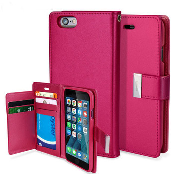 For iPhone 6 Plus / 6S Plus Rich Diary Case Pink