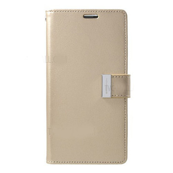 For Samsung Galaxy S10 Rich Diary Case Gold
