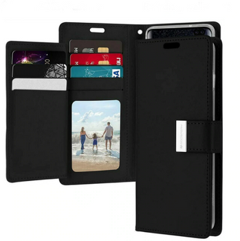 For Samsung Galaxy S10 Rich Diary Case Black