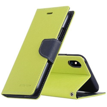 For iPhone XS Max Rich Diary Case Green