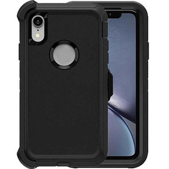 For iPhone XR Outerbox Defender Case Black