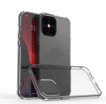 For iPhone 12 Pro Hard and Clear Case Black