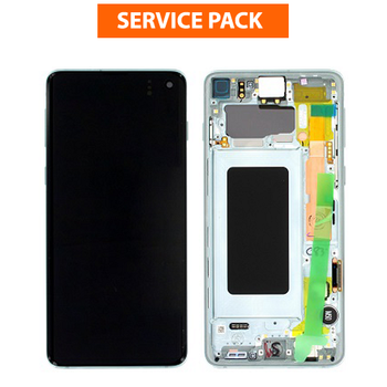 For Samsung Galaxy S10 Plus Service Pack LCD and Touch Screen Assembly (Green Aqua)