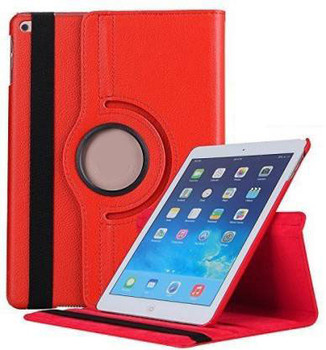For iPad 9.7 360 Rotation Flip Case Red