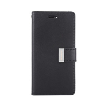For iPhone 12 Mini Rich Diary Case Black