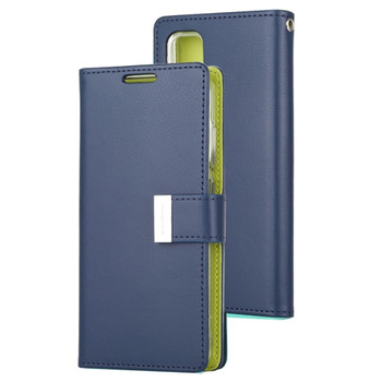 For Samsung Galaxy S20 Rich Diary Case Blue
