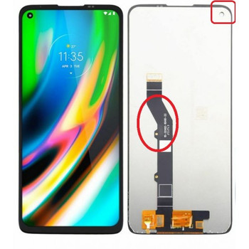For Motorola Moto G9 Plus LCD and Touch Screen Assembly (Black)