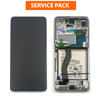 For Samsung Galaxy S21 Ultra Service Pack LCD and Touch Screen Assembly With Battery (Black)
