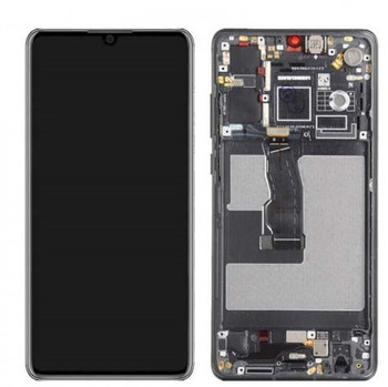 For Huawei P30 LCD and Touch Screen Assembly With Frame (Black)