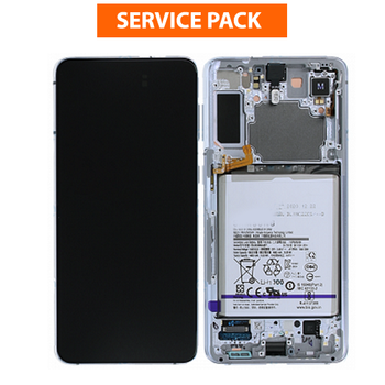 For Samsung Galaxy S21 Ultra Service Pack LCD and Touch Screen Assembly With Battery (Silver)