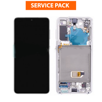 For Samsung Galaxy S21 Service Pack LCD and Touch Screen Assembly (White)