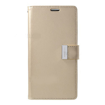 For Samsung Galaxy S10 Plus Rich Diary Case Gold