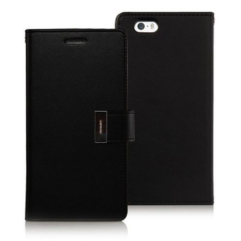 For iPhone 5/5S Rich Diary Case Black