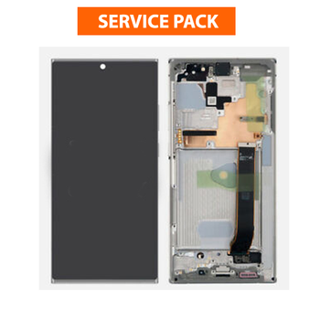 For Samsung Galaxy Note 20 Ultra Service Pack LCD and Touch Screen Assembly (White)