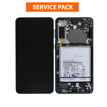 For Samsung Galaxy S21 Service Pack LCD and Touch Screen Assembly With Battery (Black)