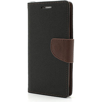 For iPhone 5/5S Mercury Fancy Diary Case Black