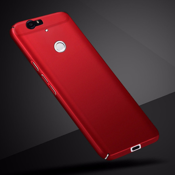 For Nexus 6p Rubber Case Red