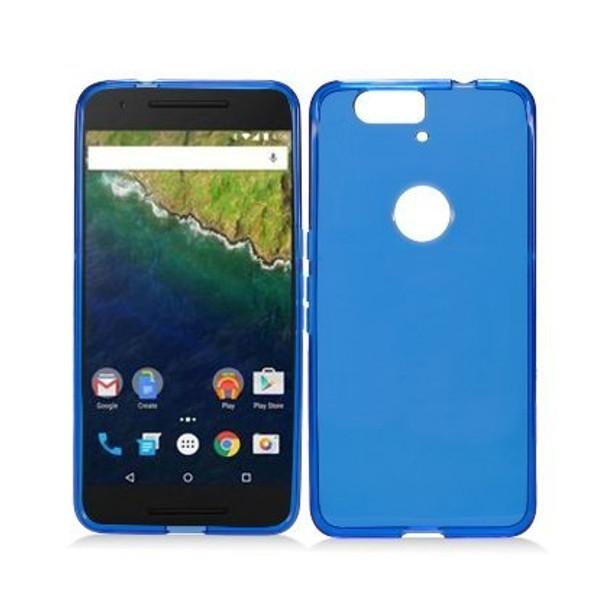 For Nexus 6p Rubber Case Blue