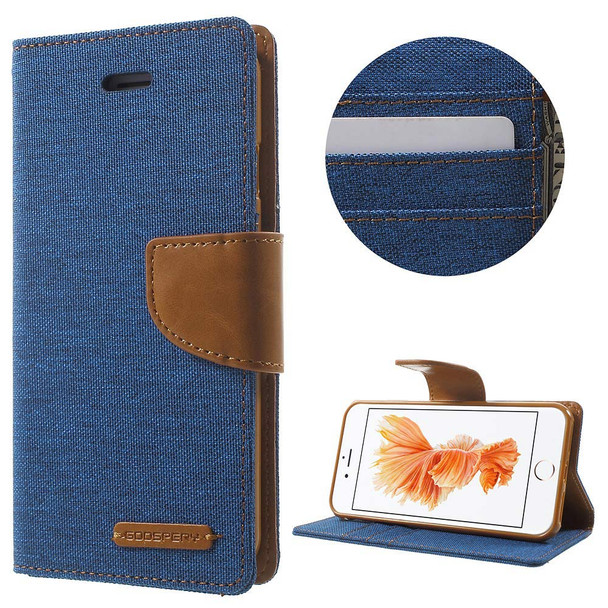 For 6 plus / 6s plus Mercury Canvas Diary Blue