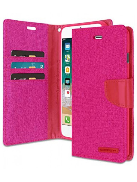 For 6 plus / 6s plus Mercury Canvas Diary Pink