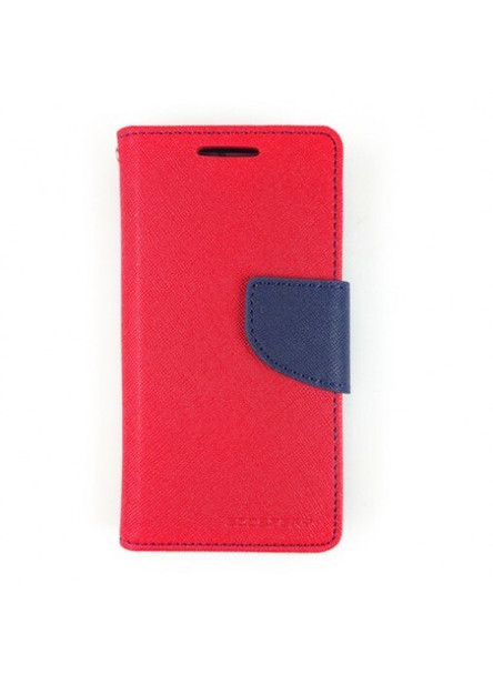 For iPhone XS Max Mercury Canvas Diary Red