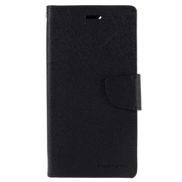 For iPhone 11 Pro Mercury Canvas Diary Black