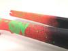 ENVE CX Carbon Disc Fork: Wild Custom Powdercoat- Tapered - QR - Peach/Neon Green/Grey (New Take-Off)