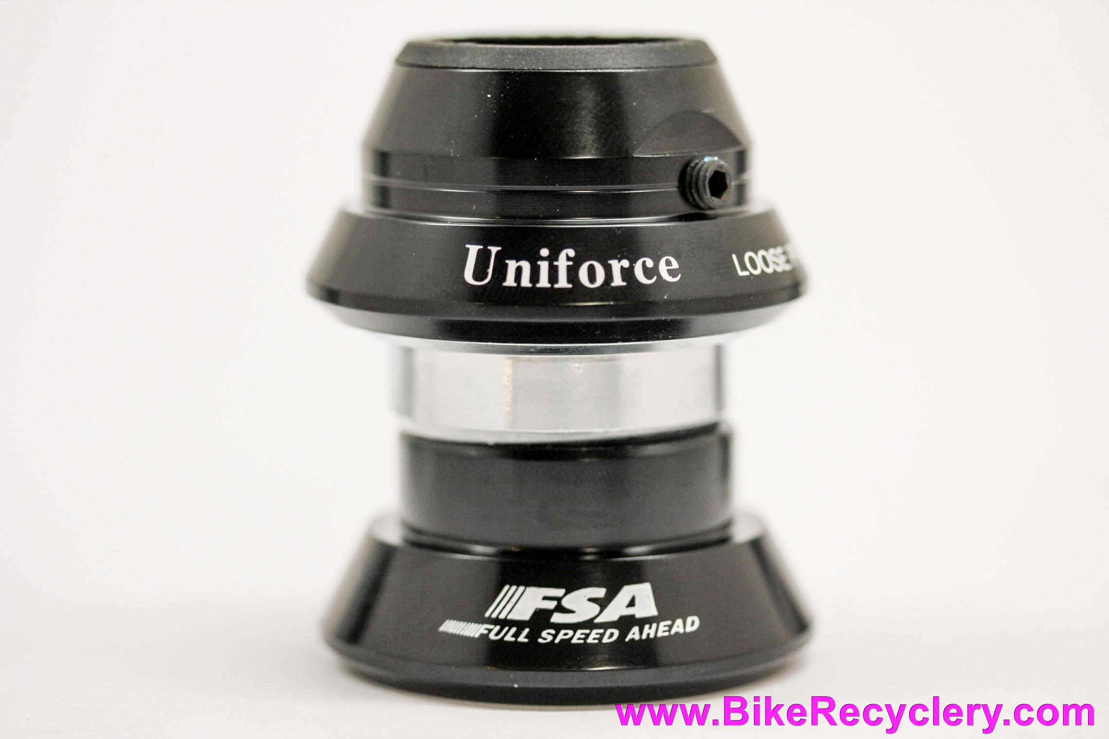 "NIB/NOS FSA Uniforce Sealed Delta Headset: 1 1/8"" Threaded - Needle/Roller Bearing - Black - BMX HeadLock Loose-Proof Mechanism"