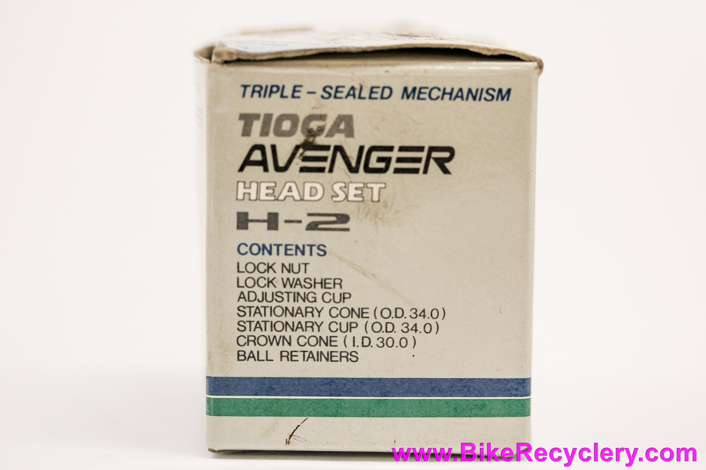 """NIB/NOS Tioga Avenger H-2 Headset: 1 1/8"""" Threaded - Triple Sealed - Black"""