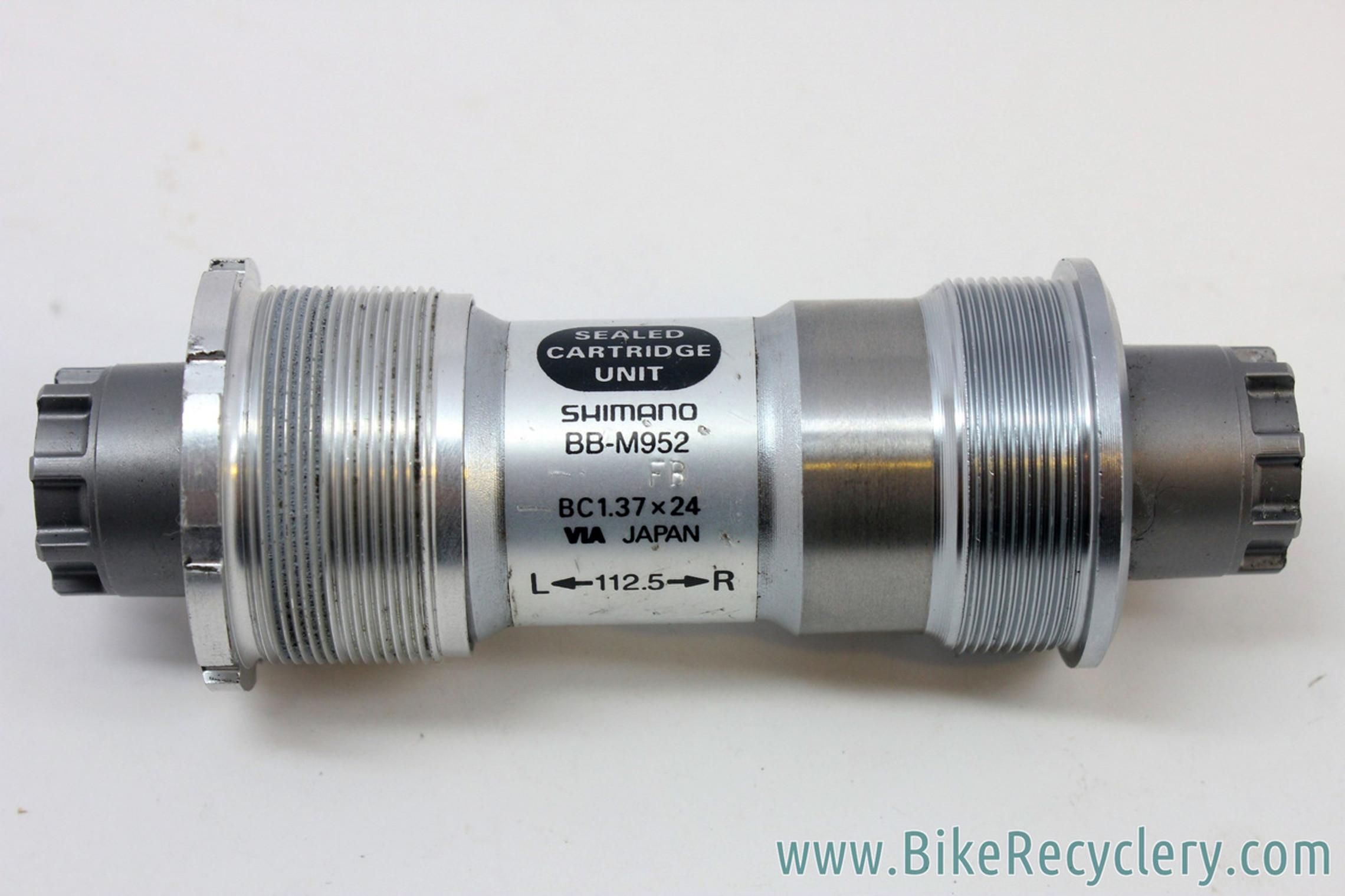 Shimano XTR Bottom Bracket Axle 112mm Octalink V1 Silver