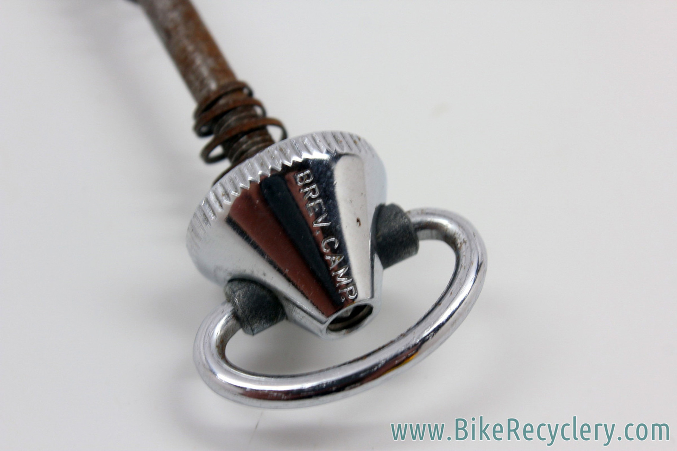 NOS Campagnolo Nuovo Record FRONT QR Skewer: Factory Bent(?) - Pre CPSC