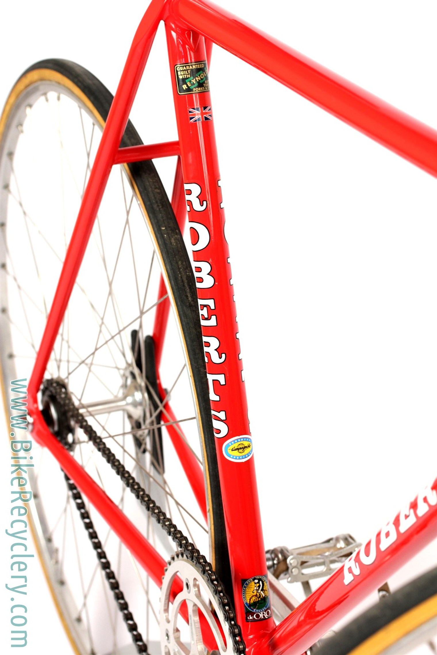 Chas Roberts Track Bike: 55cm - FULL Campagnolo Record - Reynolds 531 - Rare Unicantor - 1980's - Original Paint (Show Condition)