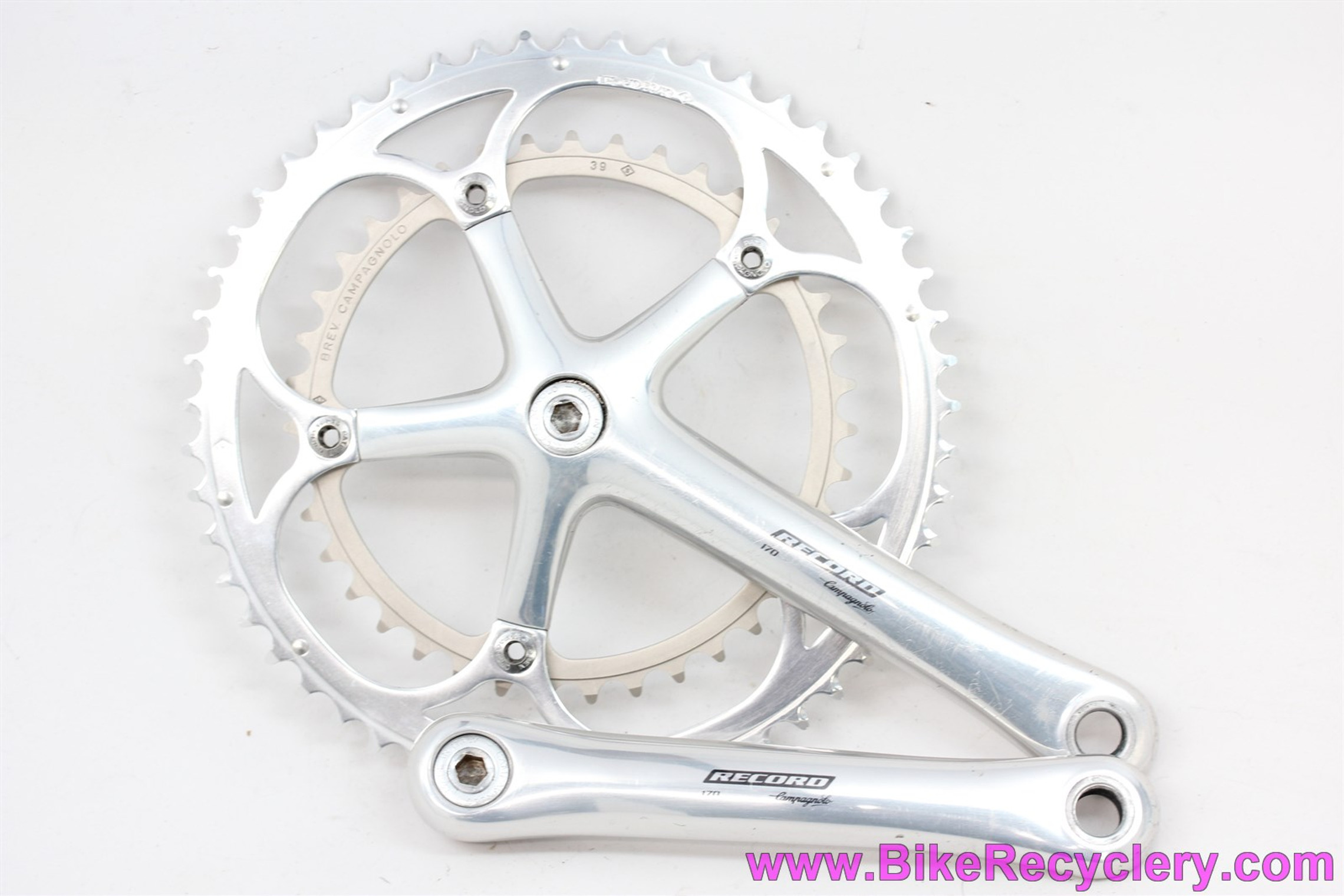 Campagnolo Record 10 Speed Crankset: 170mm - NOS 53/39t Chainrings - Silver - Square Taper (EXC)