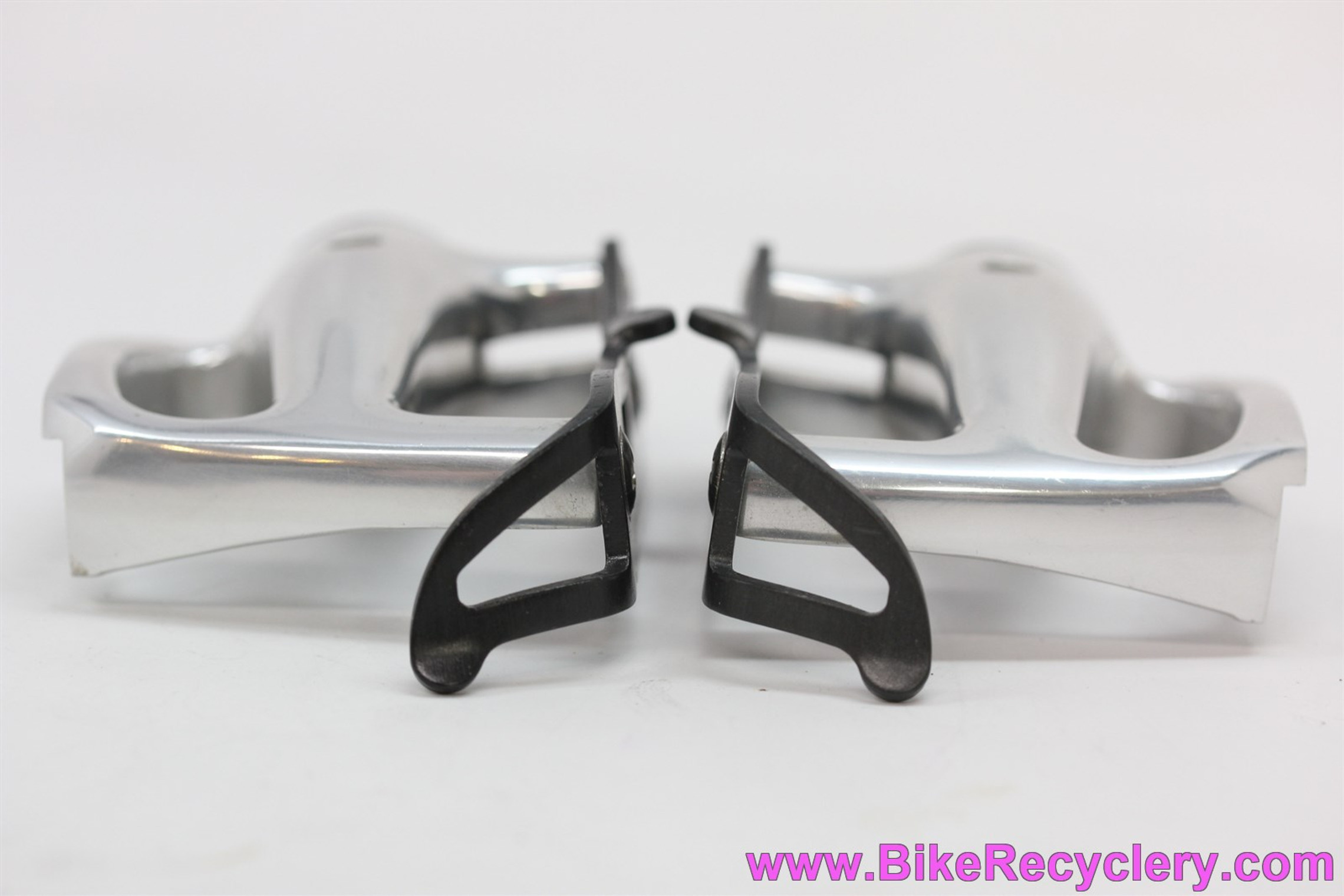 NOS Campagnolo C-Record PD-02RE Pista / Strada Pedals: Black Cages - No Front Cages