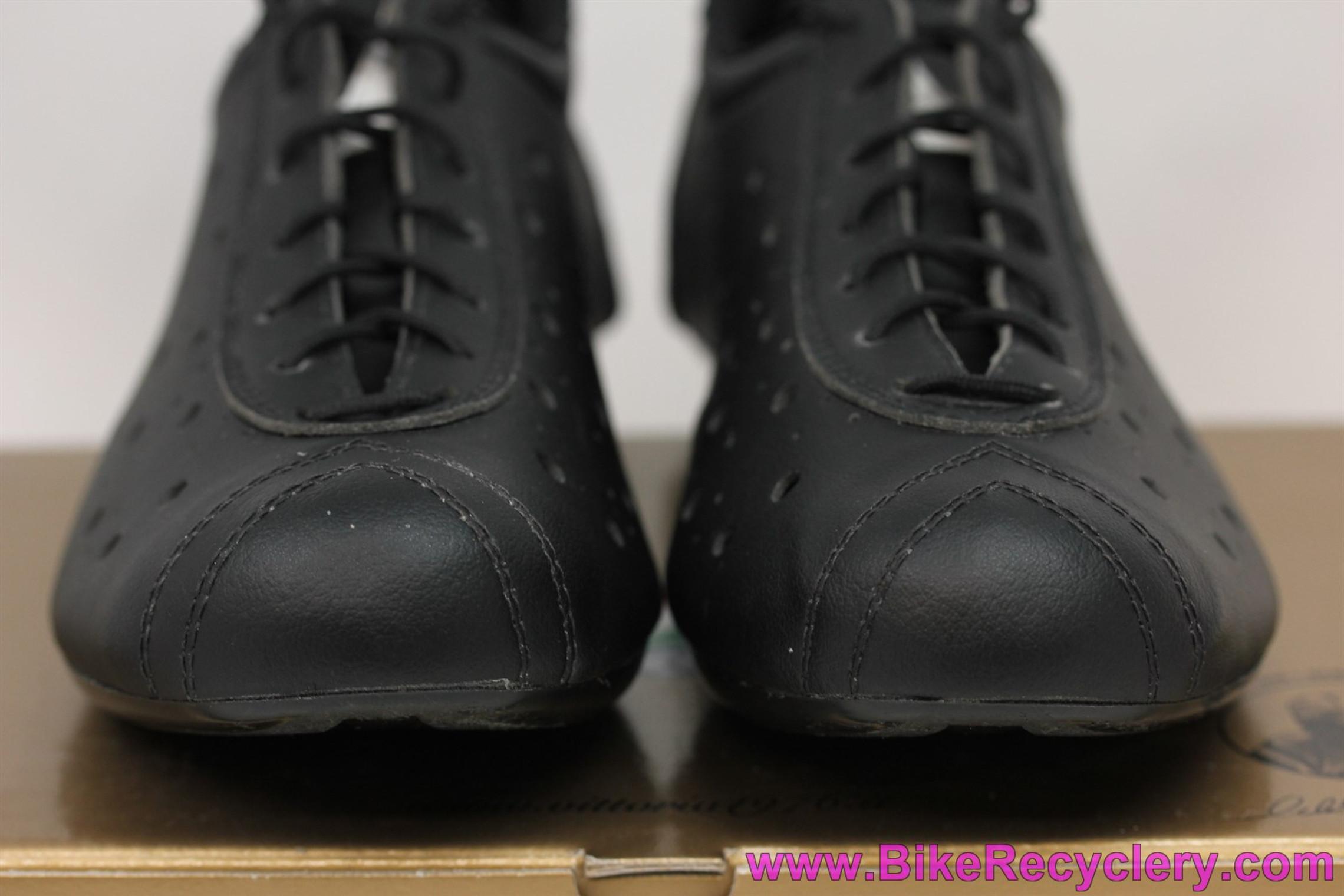 Vittoria 1976 Classic Road Clipless Shoes: Sz 41 - Retro Re-issue - Black - 3-Bolt (NEW)