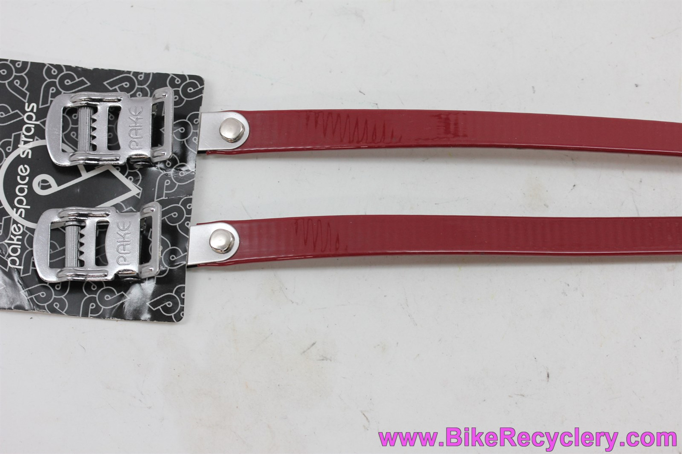 Pake Space Straps Toe Straps: Crimson Red (NEW)