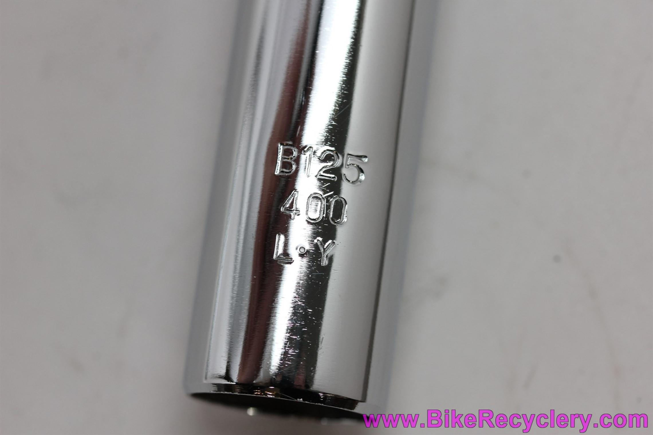 Nitto Craft B125 NJS Track / Keirin Handlebar: Chrome Steel - 40cm x 25.8mm (NEW)