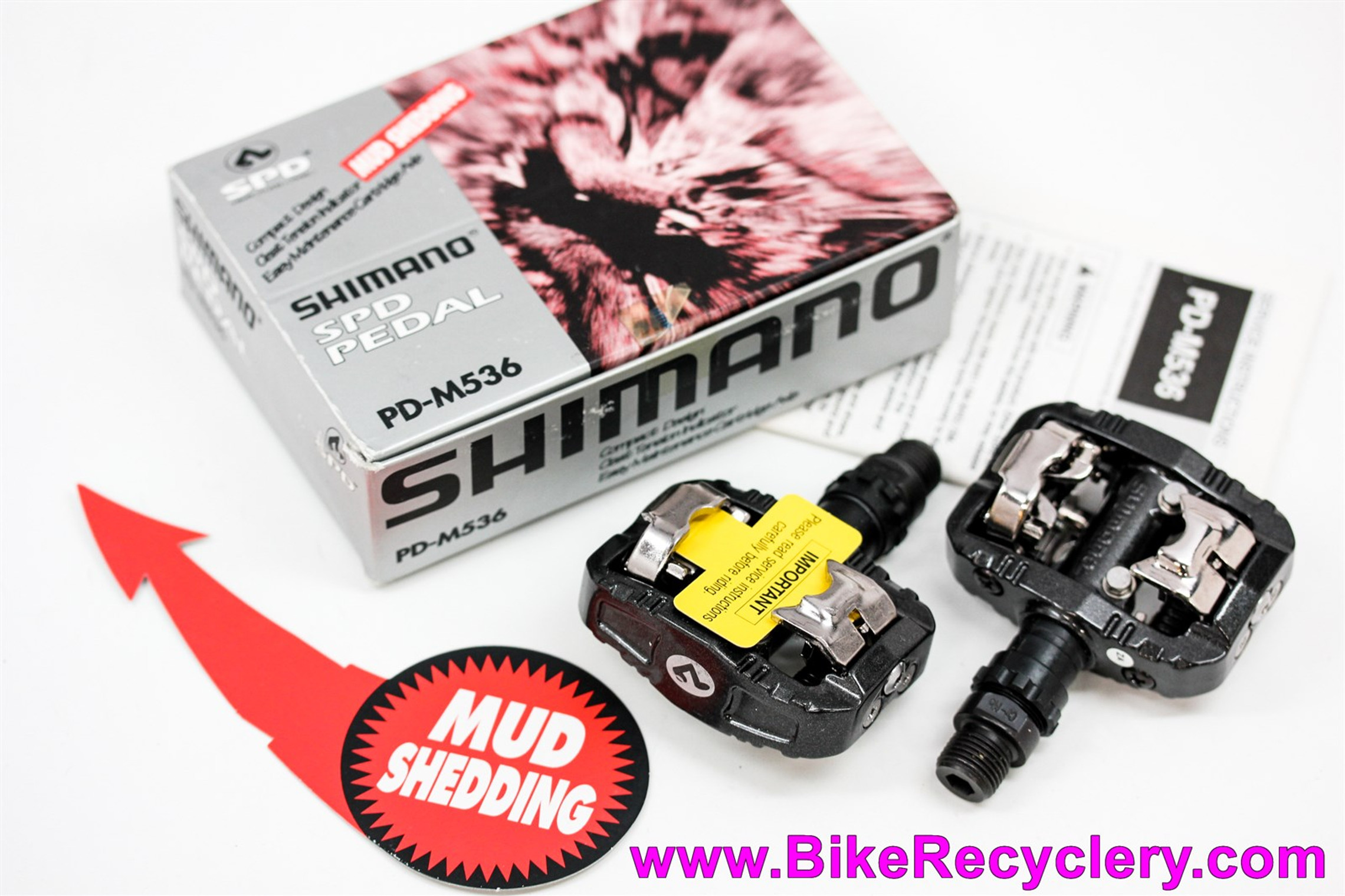 NIB/NOS Shimano Deore DX PD-M536 Mountain Bike SPD Pedals: Vintage 1990's - Black / Graphite