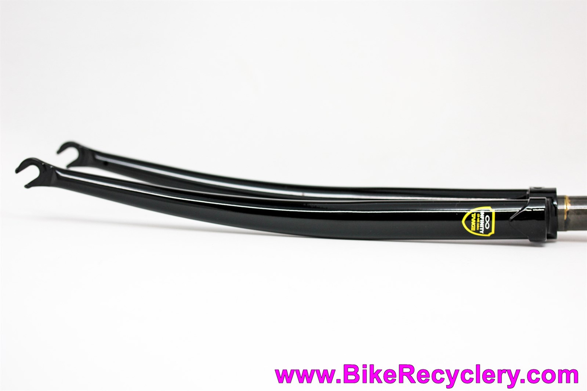 """NEW/NOS Soma Tange Infinity Lugged Steel Road / Track Fork: 1"""" Threaded x 200mm - 700c  - Black - #23055"""
