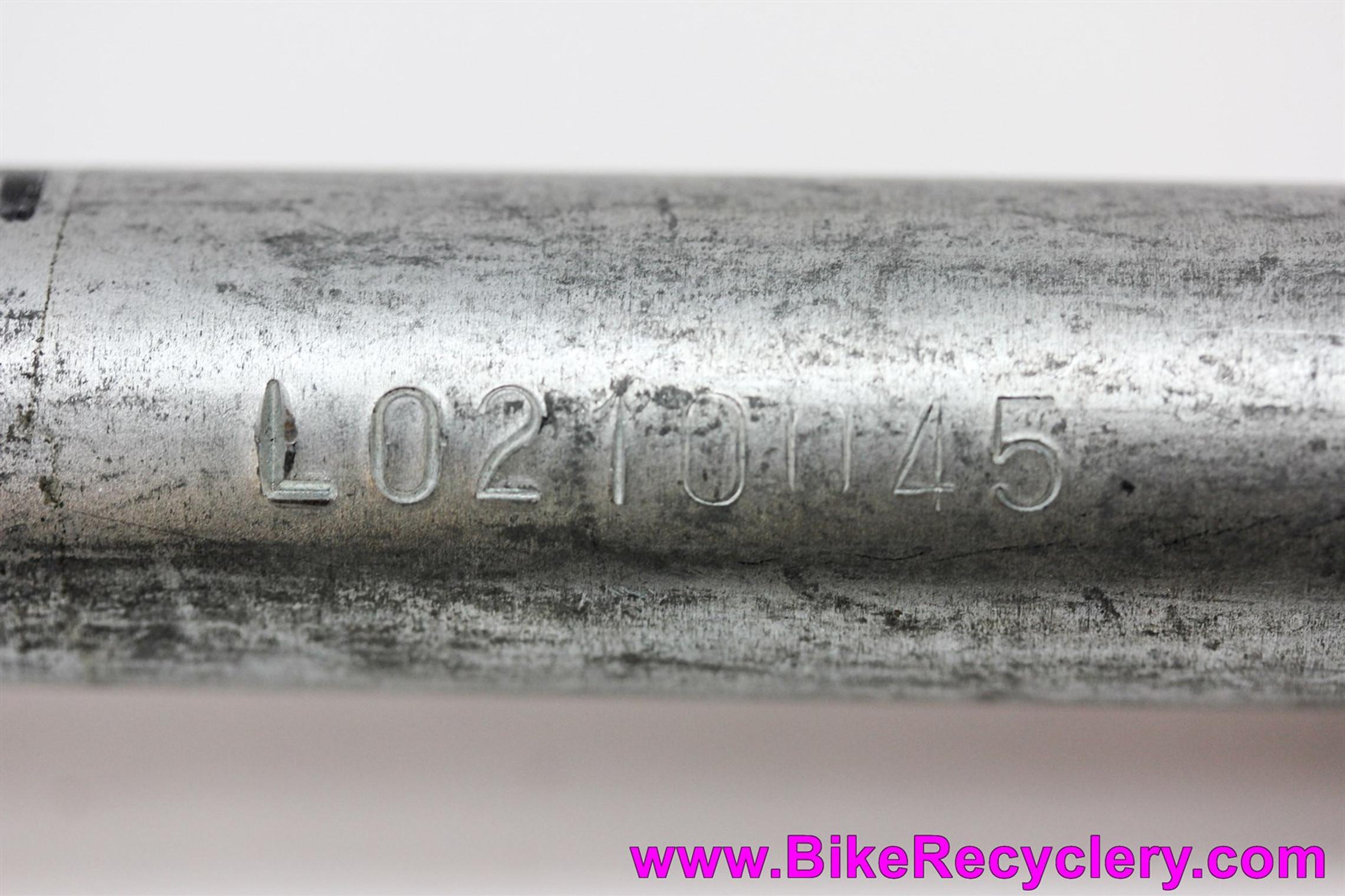 """NOS Vintage Kinesis Carbon 2 Road Fork: 1"""" Threaded - Black w/ Chrome Crown - 700c - Uncut 210mm Steerer (Take Off)"""