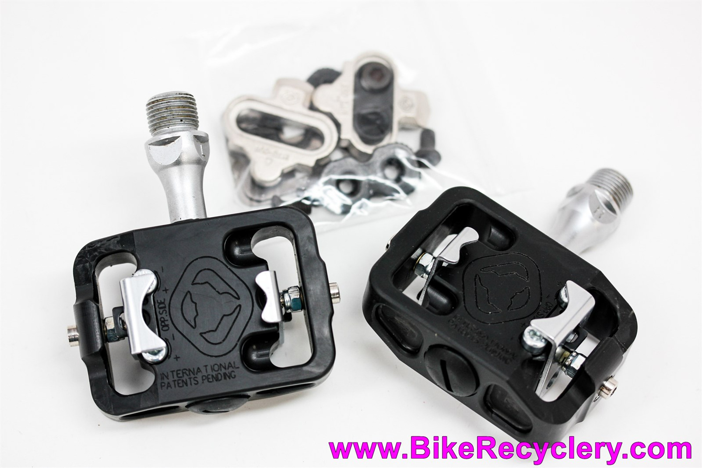NOS WTB Stealth MP250 Clipless Pedals & Cleats: Early USA Built Version! - SPD Compatible - Thermoplastic! 260g - Rare Vintage Restoration Goodies