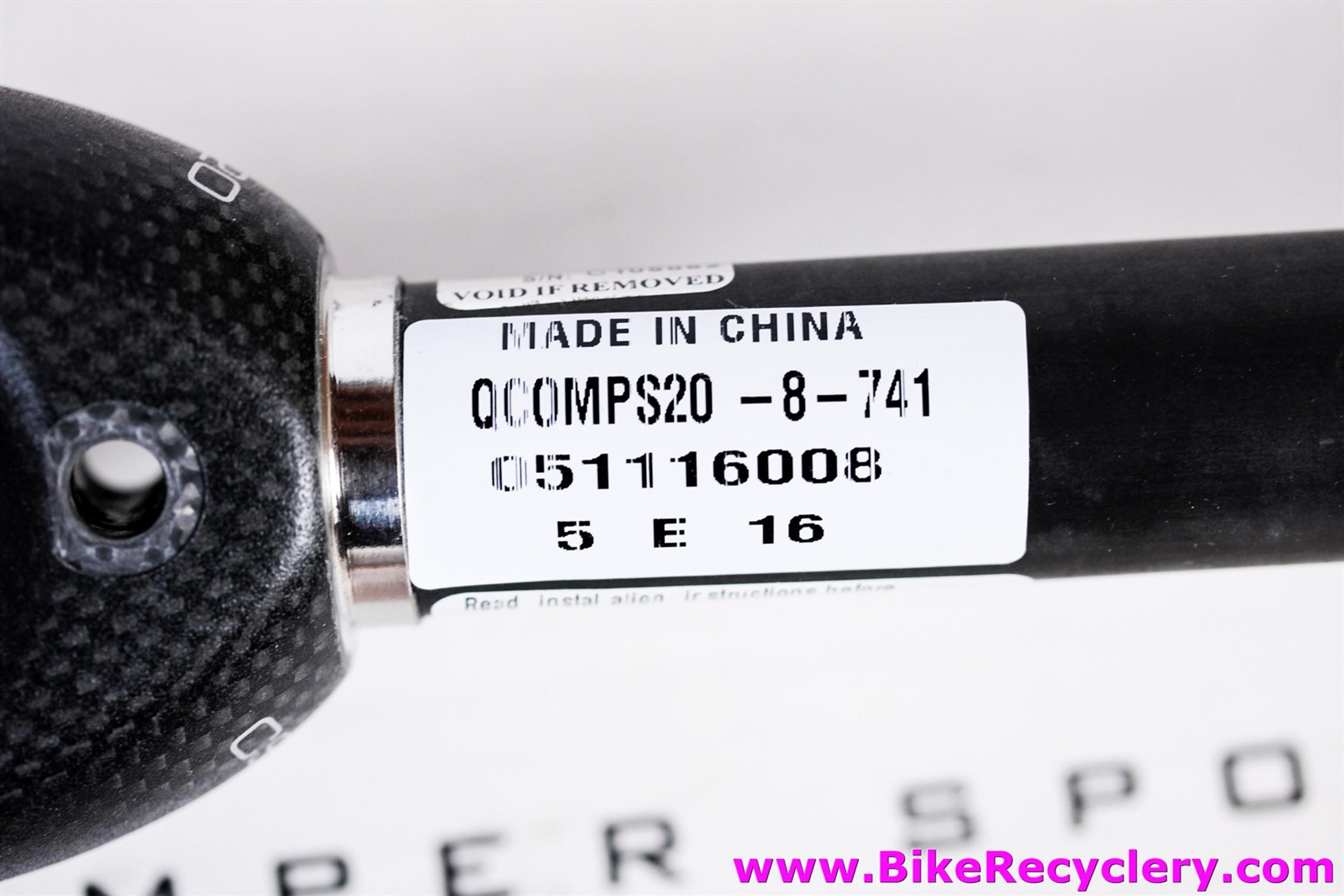 "True Temper Alpha Q CS-20 CRT Carbon Road Fork: 700c - 1 1/8"" - 41mm Rake - 420g - Matte Black - Straight Blade (NEW)"