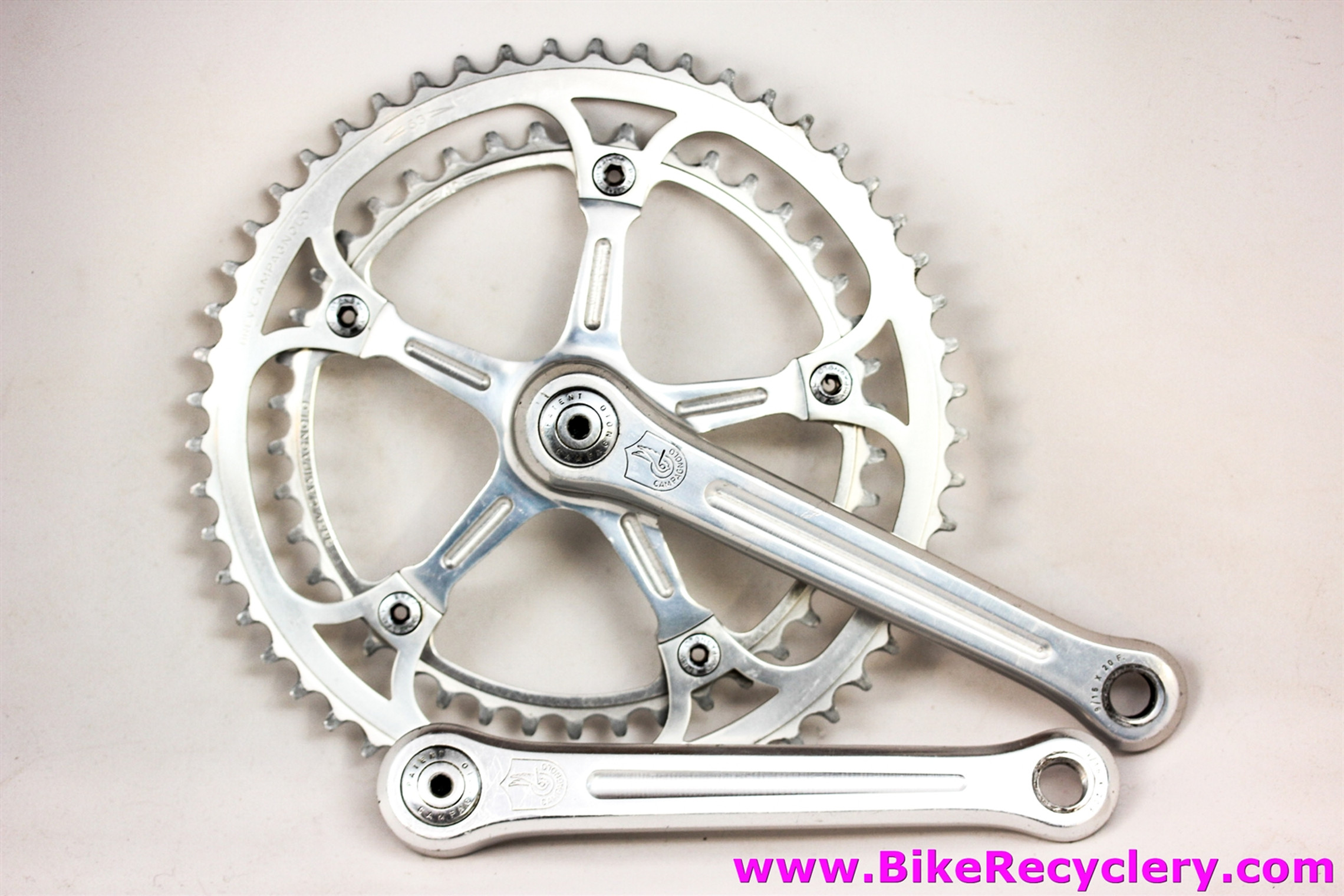 Campagnolo Nuovo Record Crankset #1049: No Date Code 1967-1973 -  170mm x 53/42t - Dust Caps & Bolts (Near Mint++ )