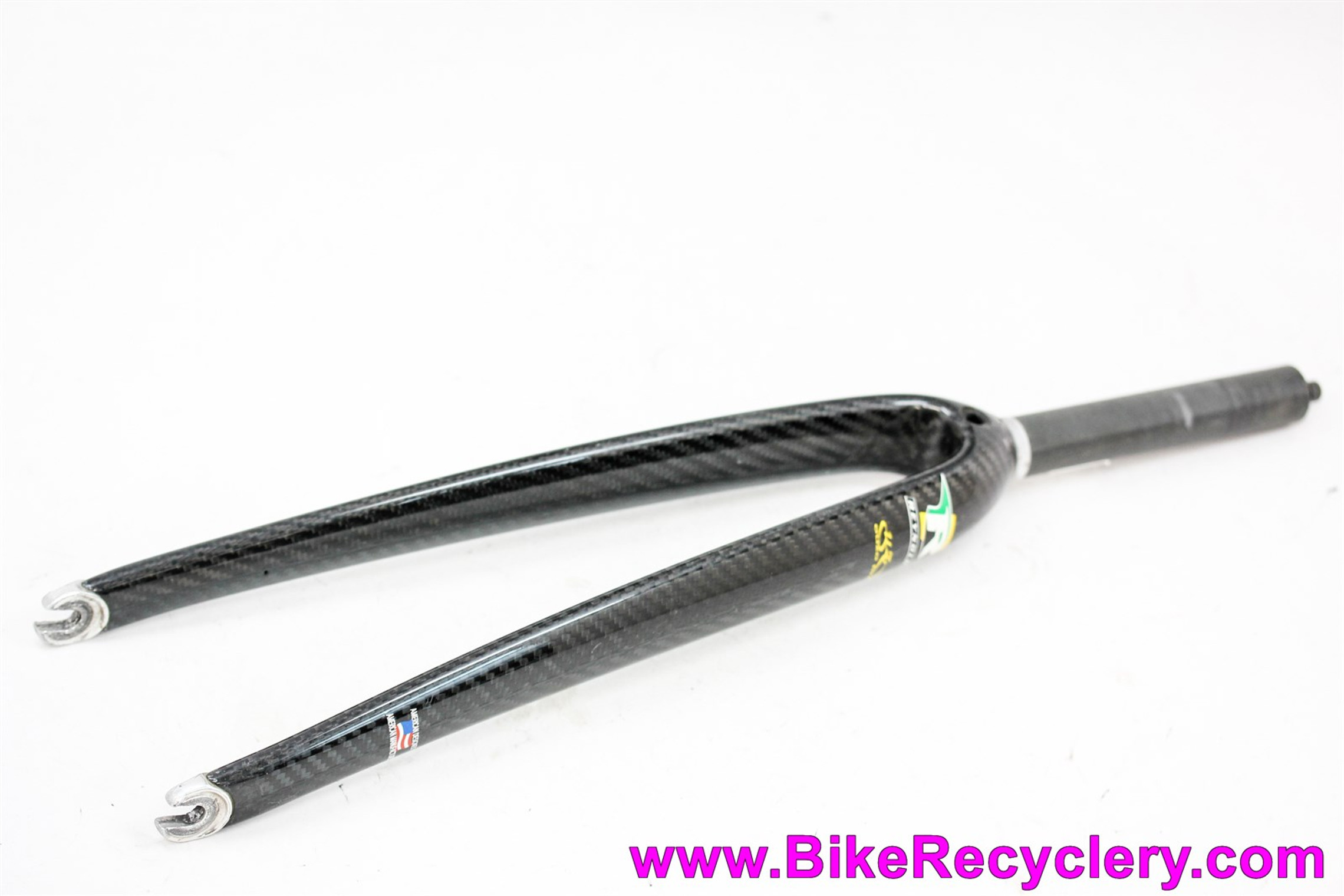 "Reynolds Ouzo Pro Carbon Road Fork: Carbon Steerer - 1"" Threadless - 40mm Offset (EXC)"